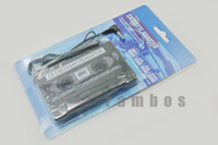 Wholesale 100pcs New Car Black Cassette Tape CD Adapter Converter for MP3 for iPod Nano MD