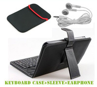 amazon apple usb - 3 items inch USB Micro USB Mini USB keyboard case inch Sleeve Cloth Case Bag mm Earphone for tablet pc Just USD