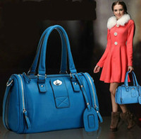 Wholesale 2013 Hot classic Boston Style Women Girls PU Leather Bags Women Handbags Fashion Ladies Shoulder Bag