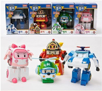 Wholesale with retail pack Robocar poli deformation car bubble toys models mix robocar poli
