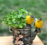 Wholesale 20pcs x Newest Artificial green plants fake silk four leaf Clover potted plant for House decor in