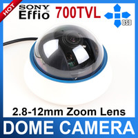 Wholesale 2 mm ZOOM Lens TVL SONY CCD Effio E OSD MENU CCTV Indoor Dome Camera