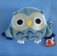 Wholesale Crochet Owl Purses Handbags - 10pcs lot Free shipping children Kids Handmade Crochet Cute Owl Design Handbag Purse Bag cute coin bags wallet 8 colors t5207