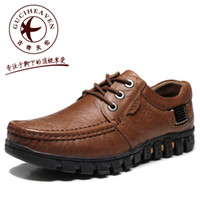 Wholesale New Spring GUCIHEAVEN Mens Italian business casual shoes Genuine Leather British Lazy shoes cols