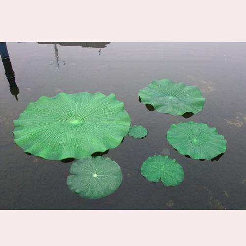 Beautiful 10 cm green artificial lotus flower leaf for for Artificial fish pond