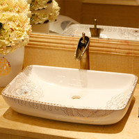 Wholesale Plus size square basin wash basin counter basin wash basin platier peony