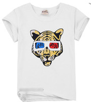 3-8 years 100 110 120 130 140 Round Neck EMS free New coming 2013 summer boy T shirt Tigher style baby boy t shirt Summer clothes Children's clothes