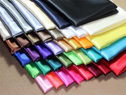 Wholesale quot m Width Silk Satin Fabric wedding Clothes Silk cloth silk cloth stage performance m Stock Color