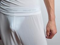 Men Boxers & Boy Shorts Sexy 1PCS Sexy Men's Male See-through Mesh Underwear Lingerie GYM Causal Long Trousers Pants Transparent Shorts Hot Bottoms 2 Colors 3 Sizes