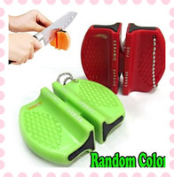 Wholesale Mini Ceramic Carbide Knife Sharpener Kitchen Blade Pocket Knives Sharpening Tool