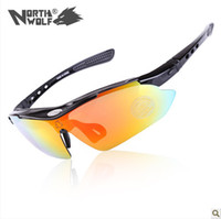 Wholesale Upgrades NorthWolf Bicycle Sunglasses Road Cycling Goggles Sports Riding Glasses Anti UV Glasses Lens