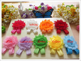 Wholesale baby girls flower sandals quot shabby Shabby Flower foot walker shoes Barefoot Sandals pairs