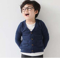 Wholesale Children Cardigan Boy And Girl Sweaters Fashion Candy Color Knitted Cardigan Long Sleeve Tops Coats Kids Multicolor Sweaters Child Clothes