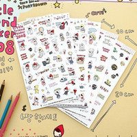 Wholesale Korea stationery cartoon little red riding hood students like decorative stickers