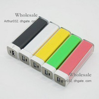 Wholesale Colorful New mAh Mini Portable Lip Gloss Emergency Power Bank Universal External Charger BackUp for iPod iPhone S HTC i9300 S4
