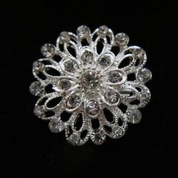 New Design 1.5 Inch Clear Rhinestone Crystal Small Flower Party Brooch