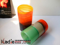Wholesale Fashion modern fashion colorful colored glaze glass vase bag