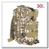 Wholesale High quality L Outdoor Sport Military Tactical Backpack Molle Rucksacks Camping Hiking Trekking Bag Desert Camouflage Color Dropshipping