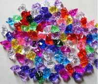 Wholesale 180pcs Acrylic Crystal Rock Ice Confetti Table Scatter Vase Filler MM Twelve Point Star COLORS For U Pick