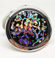 compact mirror - Multi Color Antique Painting Cosmetic Mirror Shell Front Makeup Mirror Illuminated Compact Mirror
