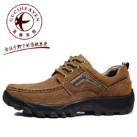 Wholesale New Spring fashion designer GUCIHEAVEN Mens casual shoes Hiking outdoor Genuine Leather British low Sports brand