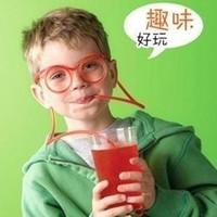 Wholesale 2pcs New Novelty Funny Drink Straws Drinking Straw Glasses Party DIY Creative Design