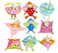 multi colors  baby cuddle toy - Baby plush toy Cuddle cloth Nicotoy toy with Rattle Soft Plush Baby Toy CM CE MARK Mix Orders