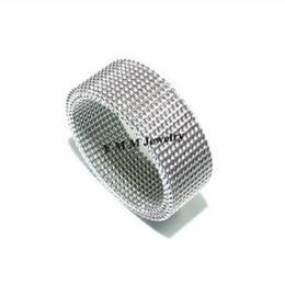 8mm Netlike Titanium Steel Rings 36pcs Stainless Steel Finger Ring Free Shipping
