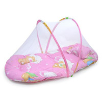 Wholesale Summer Large portable folding baby bed nets belt scapegoat pillow baby mosquito net random color