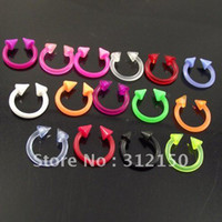 Wholesale 100pcs Body Jewelry flexible Nose Ring G Soft Sprike Circulars Horseshoes Eyebrow Rings body Navel Piercing