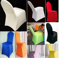 Chair Covers   New Hot Polyester Folding Banquet Universal Chair Covers Wedding Chair Covers Wedding Favors