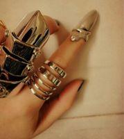 al por mayor clavos de oro pulido-Encanto de oro dedo anillo de uñas para hombres y mujeres serpiente forma de uñas polaco anillos encantos