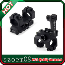 With QD Sling Swivel Flip-up Spring Loaded Detents Taper Pin VLTOR Folding Front Sight Tower