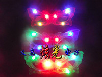 Wholesale Butterfly LED Flashing Light Up Glasses women plastic glasses Halloween Party supply