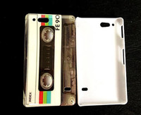 Wholesale CD Mark Retro Cassette design hard back case cover for Sony Xperia Go ST27i hkpost