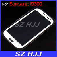 Wholesale For i9300 Glass Digitizer Cover Replacement Screen Glass Lens for Samsung Galaxy S3 I9300 Black and White
