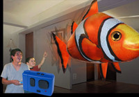 Wholesale Air Swimmers RC Flying Remote Control Fun Inflatable Flying Fly Fish clownfish Toy
