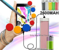 Wholesale Fashion New mAh Mini Portable Lip Gloss Emergency Power Bank Battery Universal External Charger BackUp for iPhone S HTC i9300 S4
