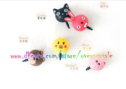 Wholesale Cute Animal Bear Rabbit Cat Pig Anti Dust earphone mm Plug Cap Stopper headset Jack for Samsung iphone S S G Plus