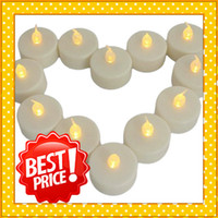 Wholesale Best Price quot Flameless LED Candle Flicker Light Battery Candles Yellow Sets Ship From USA JA027YE
