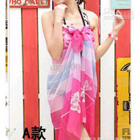 beach scarf Printed Dobby Sexy Woman Beach Veil Scarf Wrap Swimwear Multicolor Sarong Bikini Swim Wear Swimsuit Pareo Dress 25 Colors