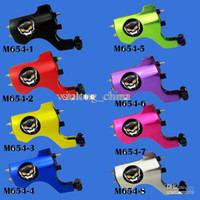 Wholesale professional New Skull Rotary Tattoo Machine Gun Shader Liner U Pick Color M654