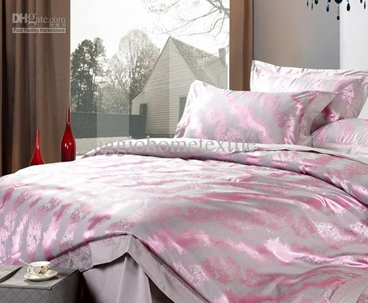 2013 Newest Bedclothes Silk Floss Beddings Silver Grey