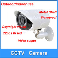 Wholesale 1 CMOS TVL indoor Outdoor CCTV Security Camera Weatherproof Day Night Vision IR LEDs surveillance camera