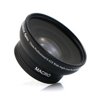 Wide Angle SLR  Free Shipping Camera Lens 52mm 0.45X Professional Wide Angle Lens Macro DC DV Japan for Canon Nikon Sony E0068A