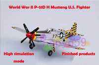 Wholesale new finished world war II piston propeller fighter model new military aircraft model P D Mustang U S fighter can be mixed model