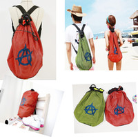 Wholesale Fashion swimwear bags HOTsell Swimming Bag Convenient Waterproof Travel Rope Outside Backpack Mesh backpack with tracking number