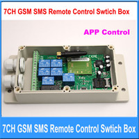 remote control - Support APP CONTROL CH GSM SMS Remote Control Relay Output Contacts Switch Box Quad Band freeshipping