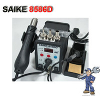 Soldering Irons & Stations   LCD Display Hot Air Desoldering Station Heat Gun + Solder Iron 220V 110V H448 Free shipping