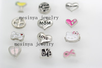 Wholesale assorted designs floating charms for glass memory living floating locket pendant Xmas gift no locket
